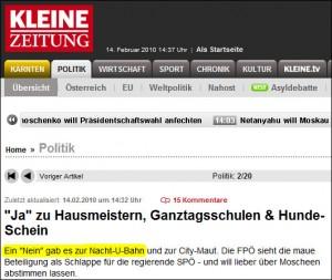 """Ein """"Nein"""" gab es zur Nacht-U-Bahn (kleinezeitung.at)"""