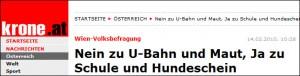 Nein zu U-Bahn… (krone.at)