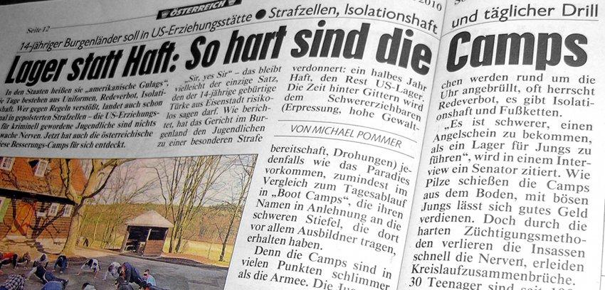 Kronen Zeitung, 21.3.2010, S. 12/13