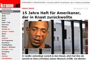 15 Jahre für Gefängniseinbruch - krone.at, 24.3.2010
