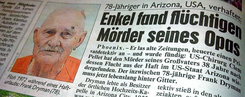 Kronen Zeitung: Enkel fand flüchtigen Mörder seines Opas