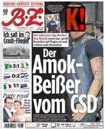 Der  Amok-Beißer vom CSD (B.Z., 21.6.2010)
