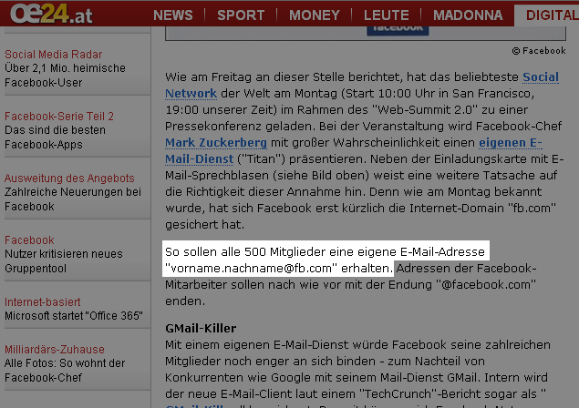 Screenshot oe24.at