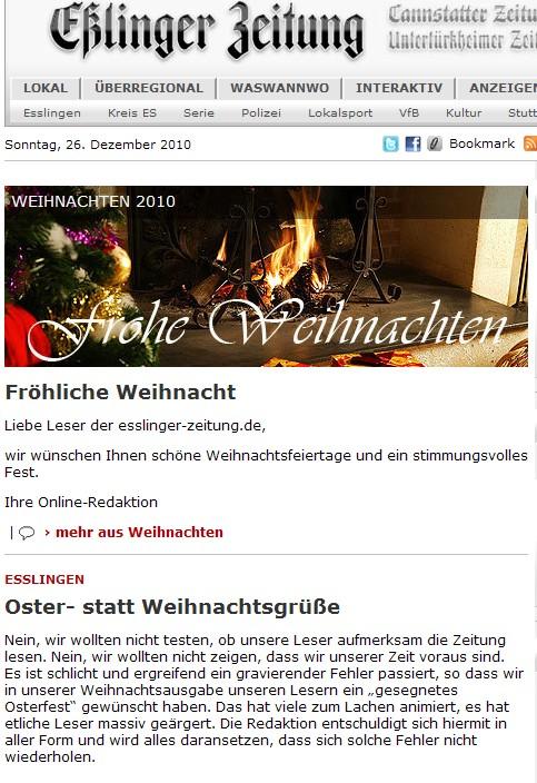 Eßlinger Zeitung Screenshot