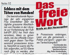 """""""Kronen Zeitung"""", 25. 11. 2011, S. 32"""