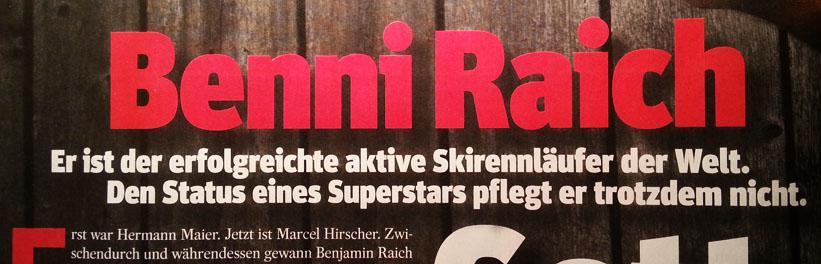 """Seite 58: Benni Raich ist der """"erfolgreichte"""" ..."""