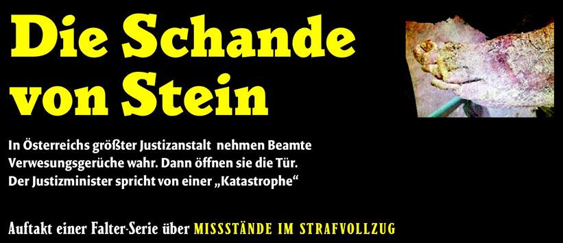 """""""Die Schande von Stein"""" (FALTER 21/14, S. 16)"""