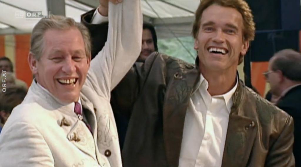 Inspiriert: Krainer junior und Arnold Schwarzenegger in den 1990ern
